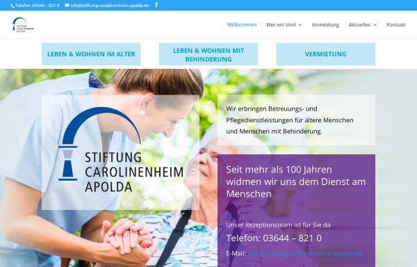 Vorschau von www.stiftung-carolinenheim-apolda.de, Stiftung Carolinenheim Apolda