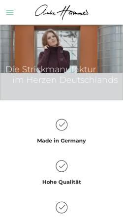 Vorschau der mobilen Webseite www.anke-hammer-strickart.de, Anke Hammer StrickArt