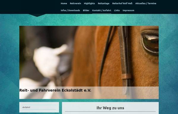 Vorschau von reitverein-eckolstaedt.de, Reitverein Eckolstädt e.V.