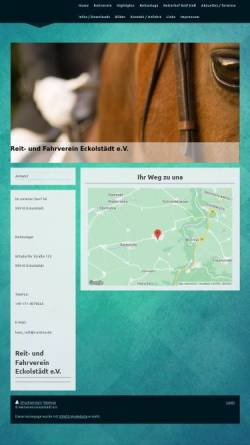 Vorschau der mobilen Webseite reitverein-eckolstaedt.de, Reitverein Eckolstädt e.V.