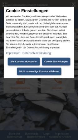 Vorschau der mobilen Webseite www.geopark-schieferland.de, Geopark Schieferland