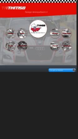 Vorschau der mobilen Webseite www.thueringer-motorsport.de, Thüringer Motorsport Bund e.V. (ThMSB)