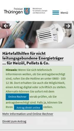 Vorschau der mobilen Webseite www.thueringen.de, Lehr- und Versuchsanstalt Gartenbau Erfurt