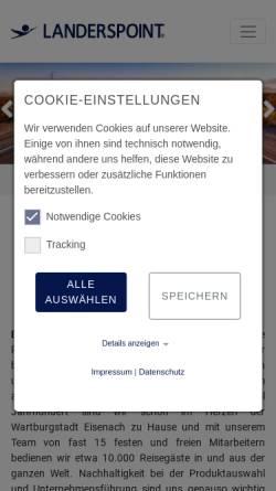 Vorschau der mobilen Webseite www.landerspoint.com, Landerspoint GmbH & Co. KG