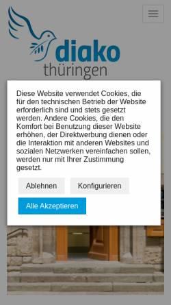 Vorschau der mobilen Webseite www.diako-thueringen.de, AKiE, Anders kaufen in Eisenach - Diako Thüringen gem. GmbH