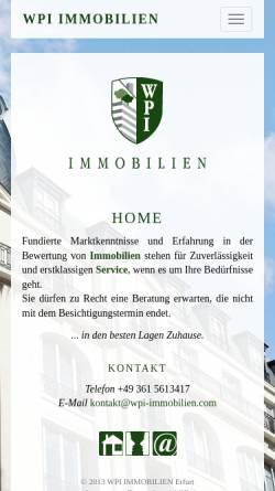 Vorschau der mobilen Webseite wpi-immobilien.com, WPI Immobilien GmbH
