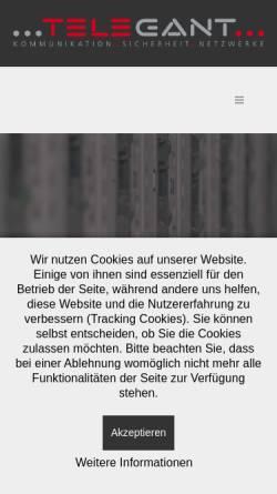 Vorschau der mobilen Webseite www.telegant.eu, Telegant GmbH
