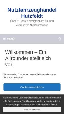 Vorschau der mobilen Webseite www.dirk-hutzfeldt.de, Dirk Hutzfeldt GmbH & Co. KG.
