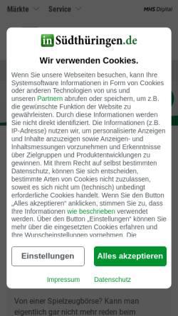 Vorschau der mobilen Webseite www.druckzentrum.de, Südthüringer Druckerei und Verlagshaus GmbH & Co.