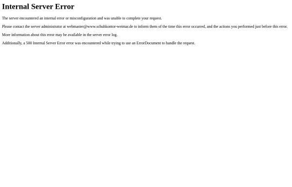 Vorschau von www.schuhkontor-weimar.de, Schuhkontor Weimar AG