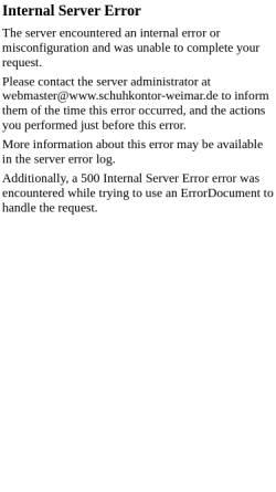 Vorschau der mobilen Webseite www.schuhkontor-weimar.de, Schuhkontor Weimar AG