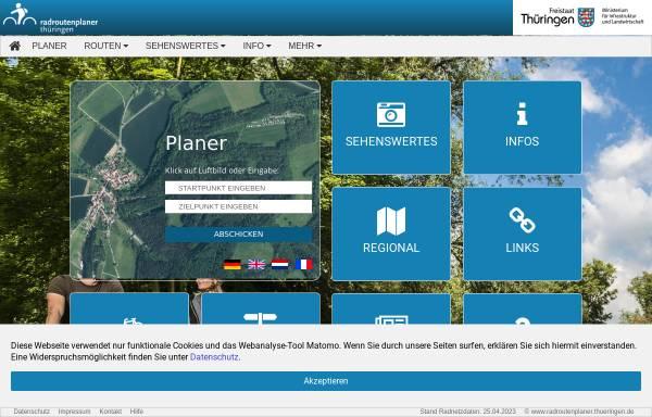 Vorschau von www.radroutenplaner.thueringen.de, Radroutenplaner Thüringen