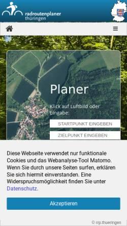 Vorschau der mobilen Webseite www.radroutenplaner.thueringen.de, Radroutenplaner Thüringen