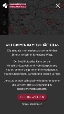 Vorschau der mobilen Webseite www.verkehr.rlp.de, Verkehrsinfo Rheinland-Pfalz