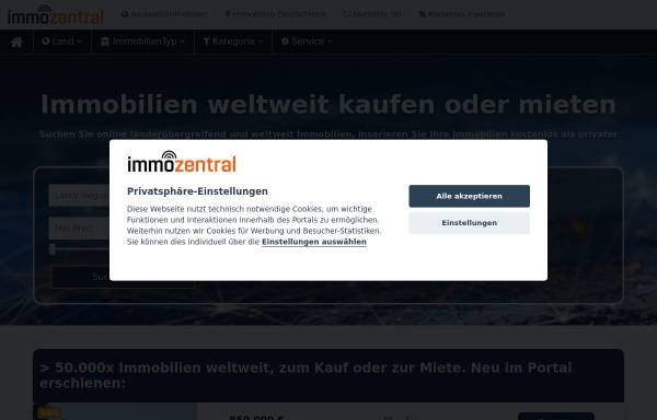 Vorschau von www.immozentral.com, Immozentral by Peter Czaplicki