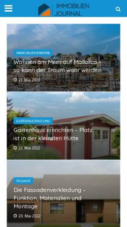 Vorschau der mobilen Webseite www.immobilien-journal.de, Regionales Immobilien-Journal Berlin & Brandenburg