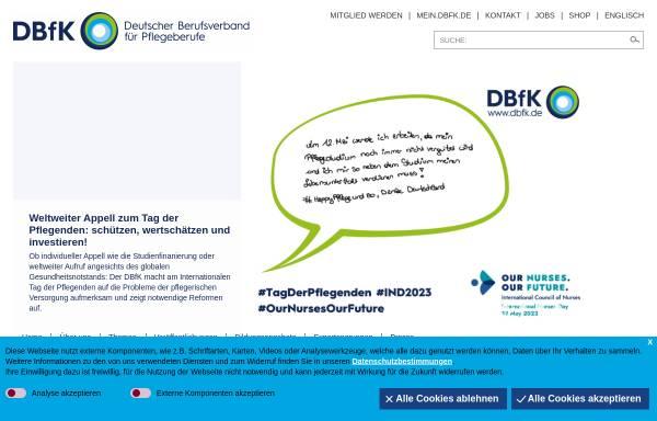 Vorschau von www.dbfk.de, Deutscher Berufsverband für Pflegeberufe e.V. (DBFK)