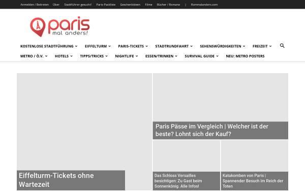 Vorschau von www.parismalanders.com, Paris mal anders