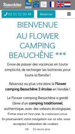 Vorschau der mobilen Webseite www.lebeauchene.com, Camping Beauchene