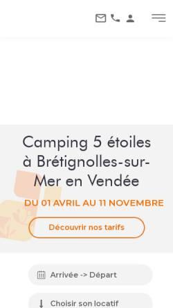 Vorschau der mobilen Webseite www.campinglesdunes.fr, Camping Les Dunes
