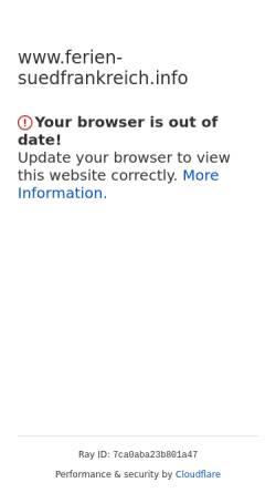 Vorschau der mobilen Webseite www.ferien-suedfrankreich.info, Ferienhaus La Cigaliere