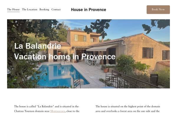 Vorschau von www.houseinprovence.dk, Ferienhaus La Balandrie
