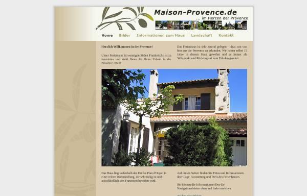 Vorschau von www.maison-provence.de, Ferienhaus, Familie Pohlmann