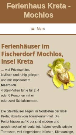 Vorschau der mobilen Webseite www.crete-villas-kreta-villen.com, Luxuriöse Stein-Villa, Mochlos