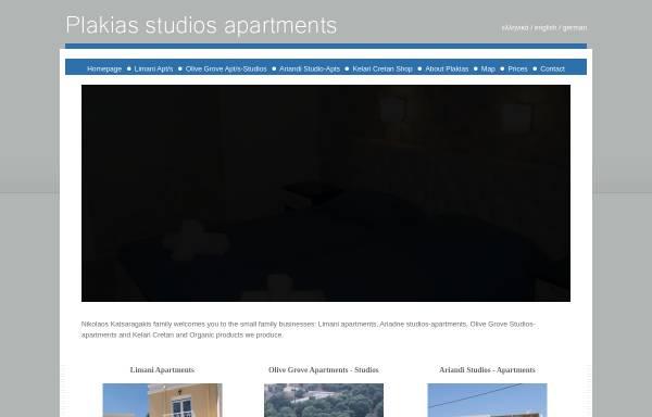 Vorschau von plakiaslimani.gr, Plakias Studios Apartments
