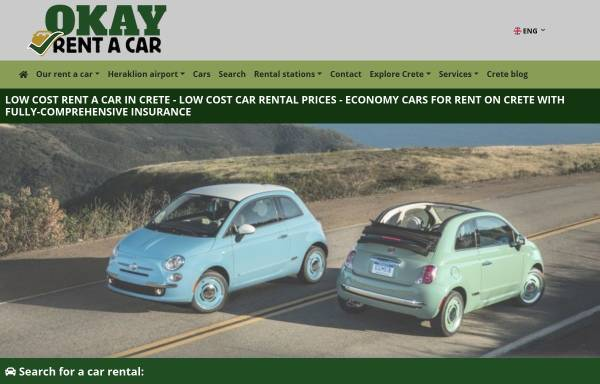 Vorschau von www.okaycrete.com, OKay Rent A Car