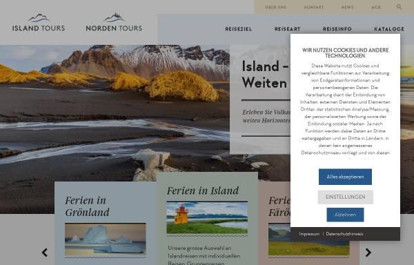 Vorschau von www.islandtours.ch, Island Tours