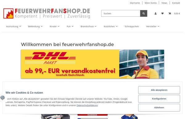 Vorschau von www.feuerwehrfanshop.de, Feuerwehrfanshop, Christian Dittmann