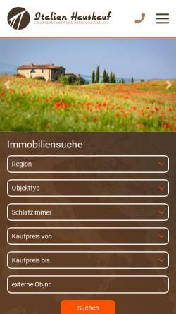Vorschau der mobilen Webseite www.italien-hauskauf.de, Italien-Hauskauf.de