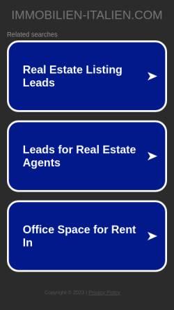 Vorschau der mobilen Webseite immobilien-italien.com, Immobilien Italien