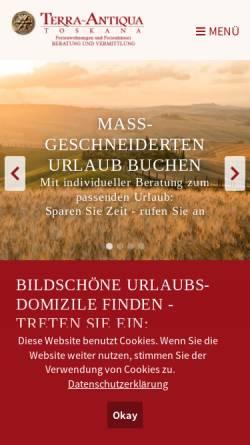 Vorschau der mobilen Webseite www.toskana-wellness.com, Terra Antiqua