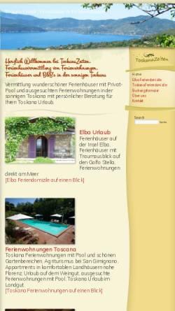Vorschau der mobilen Webseite toskanazeiten.com, ToskanaZeiten