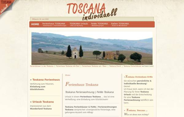 Vorschau von www.toscana-individuell.de, Toscana-Individuell