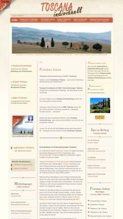 Vorschau der mobilen Webseite www.toscana-individuell.de, Toscana-Individuell