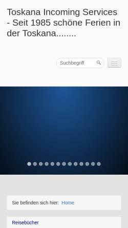 Vorschau der mobilen Webseite www.tuscany-toskana.com, Toskana Incoming Services - Luciana Donadeo