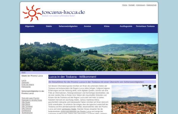 Vorschau von www.toscana-lucca.de, Toscana-Lucca.de