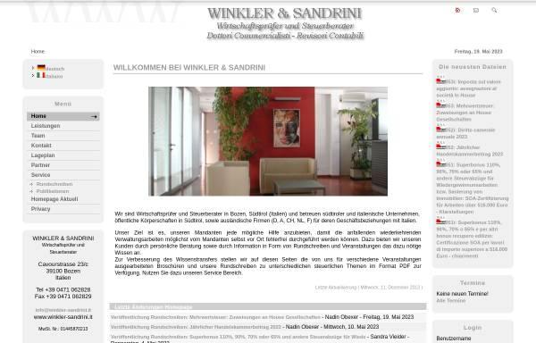 Vorschau von www.winkler-sandrini.it, Winkler & Sandrini