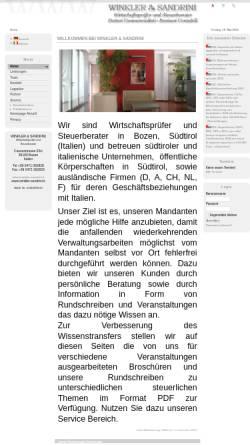 Vorschau der mobilen Webseite www.winkler-sandrini.it, Winkler & Sandrini