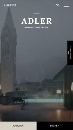 Vorschau der mobilen Webseite www.goldener-adler.com, Hotel Goldener Adler