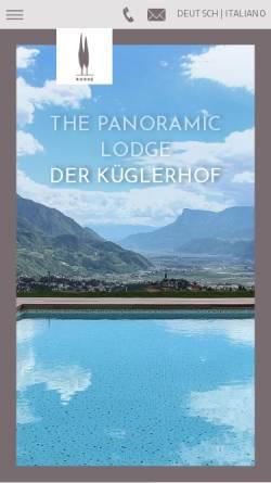 Vorschau der mobilen Webseite www.kueglerhof.it, Hotel Küglerhof