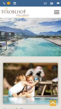 Vorschau der mobilen Webseite www.landsitz-stroblhof.it, Landsitz Stroblhof