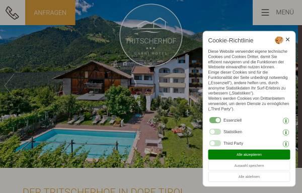 Vorschau von www.tritscherhof.com, Pension Hotel Tritscherhof