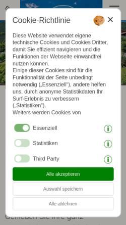Vorschau der mobilen Webseite www.tritscherhof.com, Pension Hotel Tritscherhof