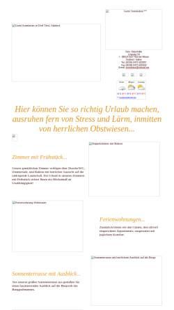Vorschau der mobilen Webseite www.rolbox.it, Garni Sonnleiten