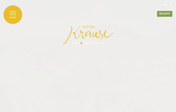 Vorschau von www.hotel-krause.it, Hotel Krause