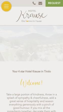 Vorschau der mobilen Webseite www.hotel-krause.it, Hotel Krause